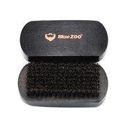 Black Mähne Bart Pinsel Oval Buche Bart Claening Kamm Gesichtsmassage Schnurrbart Pinsel männlich Pflege