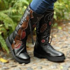 LOSTISY الربط الدافئة اصطف منتصف العجل الأحذية