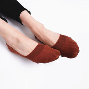 Women Cotton Antiskid Invisible Boat Sock Summer Thin Breathable Short Ankle Socks