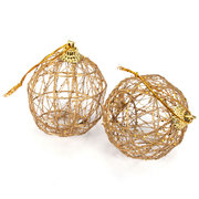6Pcs Hollow Out Xmas Tree Decor Glitter Baubles Accessories Christmas Decor Ball