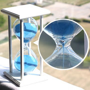 15/30 Minutes Sandglass Kitchen Timer Crystal Hourglass Craft Gift Ornament Home Decor