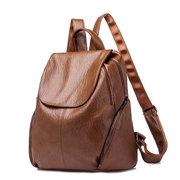 Однотонный рюкзак с большой емкостью