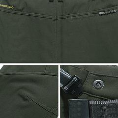 Mens Outdoor Sport Pantaloni Elastici Waist Soft Shell Caldo Fleece Fodera Pantalone idrorepellente