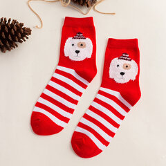 Donne comode Soft Cute Cotton Christmas Animal Indoor Calze Tubo centrale Calze