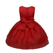 Big Bow Layered Girls Birthday Hochzeitsparty Kleid Für 0-24M
