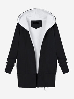 Casual Women Hooded Thicken Warm Outwear Jacket Coat
