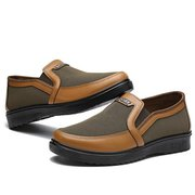 Men Old Peking Style Fabric Breathable Flat Slip On Casual Shoes