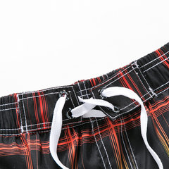 Plaids Printing Loose Surf Quickly Dry Board Shorts for Men