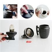Tazze da caffè creative Grenade Pratica tazza di acqua con coperchio Regali divertenti Tazze cubiche 3D