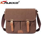 Brand KAUKKO Men Versatile Canvas Crossbody Bag Casual Shoulder Bag