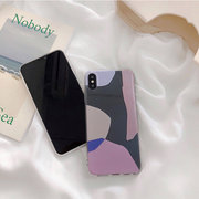 Custodia per cellulare TPU Cobbled Art Case Trasparente per iPhone