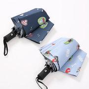 Automatic Umbrella Female Korea Small Fresh Rain And Rain Dual-use Sun Umbrella Sun Protection UV Ins Umbrella Large