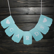 CARDS Wedding Banner Photography Flags Garland Party Decoration Photo Props Supplies