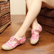 Pattern Print National Wind Slip On Soft Sole Canvas Shoes