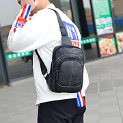 Men Genuine Leather Sport Casual Sling Bag Crossbody Bag