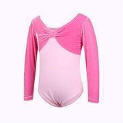 Костюм балетной гимнастики для девочек с длинными рукавами для 2-11 лет