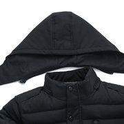 Mens Winter Thicken Parkas Detachable Hooded Waterproof Rib Cuffs Jackets