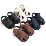Bebê recém-nascido verão PU Casual respirável escavar sapatos de sandália para 6-24 M