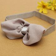 Новорожденных девочек шифон бантом повязки на голову резинка для волос с бантом Стандарты