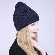 Berretto da baseball da donna a forma di berretto da bowling con torsione da donna Soft Cappelli invernali da donna