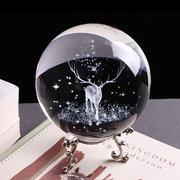 Crystal Ball 3D Laser vetro inciso Globo artigianale di cristallo Home Decor Accessori Ornamento