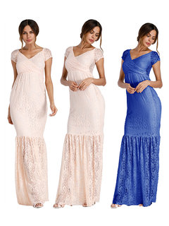 Fishtail Lace Maternity Maxi Dresses Maternity Photography Gown Maxi Pregnancy Dress