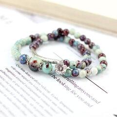 Vintage handgemachte Perlen Armbänder Blume Keramik Multilayer Armbänder ethnischen Schmuck für Frauen