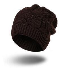 Women Winter Warm Soft Knitting Flexiable Bonnet Hat Outdoor Casual Head Hat Leisure Stripes Beanies