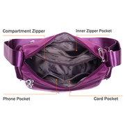 Woman Multi- Zipper Crossbody Bag Shoulder Bag Waterproof Tote Bag