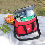 16L Insulated Oxford Cloth Lunch Bag Cooler Aluminum Foil Food Thermos Large Bento Bag