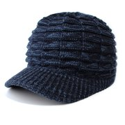 Damen Männer Warme Wolle Stricken Ente Zunge Hut Outdoor Casual Winddicht Einlagige Vogue Wild Cap