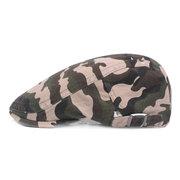 Мужчины Хлопок Камуфляж Берет Шапки Newsboy Пряжка Регулируемая Повседневная Outdoors Peaked Cabbie Hat