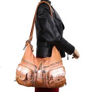 Zaino da donna Shopping casual Multitasche Borsa PU Crossbody in pelle Borsa