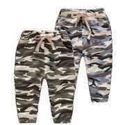 Camo Sport Style Boys Girls Jogger Pants Kids Long Trousers For 2Y-9Y