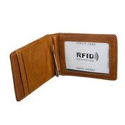 RFID portefeuille en cuir véritable avec 3 fentes pour cartes, portefeuille rétro