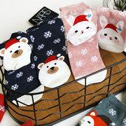 Womens Thicken Warm Christmas Stockings Christmas Socks Christmas Decorations Ankle Socks