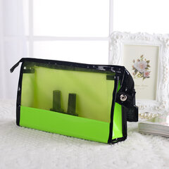 Fashion Cosmetic Makeup Bags Transparent Handbag See-through Stroge Bag