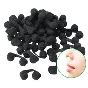 50 Pcs Anti-Dust Nose Plug Disposable Anti-Pollution Nose Protective Sponge Dust Filter Nasal Plug