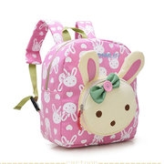Kids Children Canvas Rabbit Bear Cartoon Lovely Backpack Small School Bags