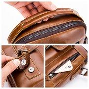 Retro Echtleder Business Casual Tasche 6 Zoll Handytasche Umhängetasche für Männer