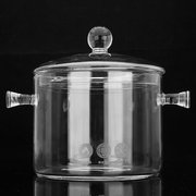 1.5 1.7L Glass Cooker Pot Electric Ceramic Stove Heating Bowl Kitchen Cooking Tool
