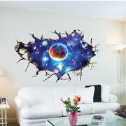 3D extraíble del espacio exterior del planeta pegatinas de pared Waterproof Home Decor