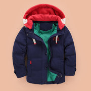 Soft Girls Boys Winter Thick Down Jacket Kids Warm Coat For 4Y-13Y