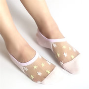New Glass Crystal Silk Stockings For The Adult Breathable Socks Lace Short Tube Socks