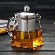 Стеклянный заварной чайник Высокая термостойкость Свободный Лист Цветочный кофейник с крышкой ситечком Infuser