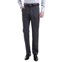 Mens Spring Summer Business Linen Dress Pants Casual Soft Flax Long Trousers