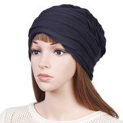 Womens Stripe Ethnic Cotton Velvet Hat Vintage Vogue Good Elastic Warm Outdoor Beanie