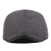 Men's Autumn Retro Cotton Mesh Adjustable Warm Breathable Leisure Outdoor Beret Hat