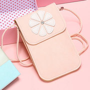 Universal Women 6.3 Inch Phone Bag Floral Transparent Touch Screen Phone Bag Crossbody Bag