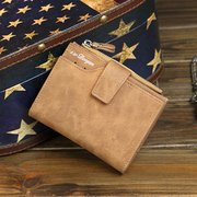PU Leather Wallet 8 Card Slot Casual Vintage Trifold Card Package moneta Borsa Borsa per uomo